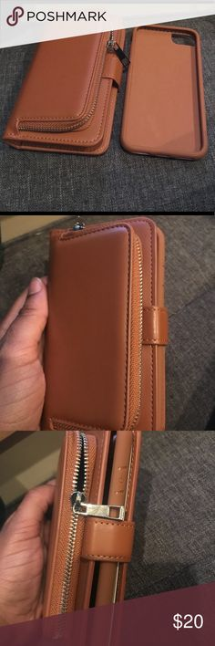 2n1 Leather Wallet w/ detachable phone case 2n1 Leather Wallet with detachable phone case for iPhone 7/8   Thick and study wallet that is a necessity for your daily commute.  Specifications: Material: Leather Phone type: iPhone 7 or IPhone 8 Bags Wallets