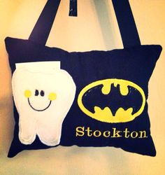 Batman Tooth fairy pillow on Etsy, $10.00