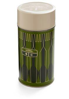Vintage Forest Feast Thermos Bottle | Mod Retro Vintage Vintage Clothes | ModCloth.com
