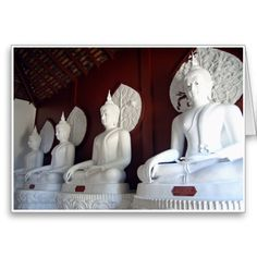 Four White Buddhas :- This room was such a calm & quiet place to be in. Situated in a temple halfway up a mountain these four pure white Buddhas sit side by side in contemplation. #buddha #buddhism #temple #temples #faith #religion #peace #tranquility #kharma #enlightenment #meditation #contemplation #thought #white #red #chiangmai #thailand #thai #oriental #southeastasia #zen