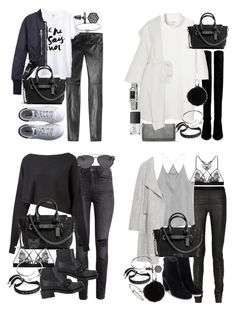 """how to style: coach swagger bag for a casual setting"" by florencia95 ❤ liked on Polyvore featuring H&M, Crea Concept, Givenchy, Barbara Bui, Fleur of England, Marc by Marc Jacobs, Cartier, Christian Dior, Rick Owens and adidas"