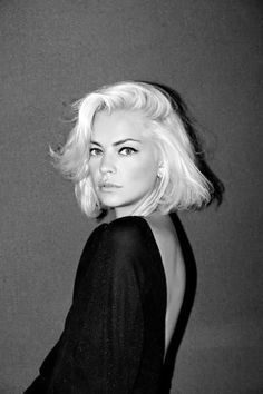 bleach blonde, hair, beauty, makeup, photography, black and white
