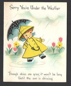Vintage  Greeting Card 1950's