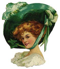 Victorian Lady Die Cut