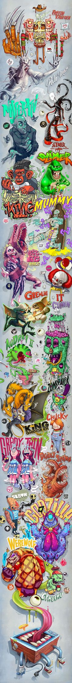 Movies Monsters on Behance