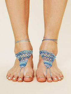 Foot jewelry... Patterned Barefoot Footsie. perfect for barefoot summers