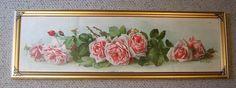 La France Roses Yard Long Print Paul de Longpre Antique c1903 The Art Interchange Book Author Autograph Buy now at Victorian Rose Prints on rubylane.com