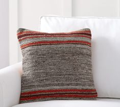 Keating Dhurrie Stripe Pillow Cover | Pottery Barn
