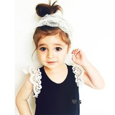 Cool 2016 Summer Newborn Toddlers Baby Kids Girls Lace Sleeveless Cotton round neck Pullover T-Shirt One-pieces - $7.65 - Buy it Now!