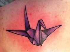 Origami Crane Tattoo Purple crane