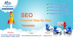 || We are providing SEO Training ||  We are providing SEO step by step training on 100% live projects. For contact visit our website: http://www.satisfactionwebsolution.com