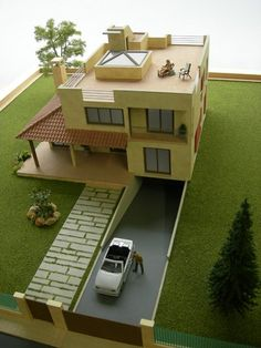 Essencial: aprenda a fazer você mesmo a grama para suas maquetes Layouts Casa, House Layouts, My House Plans, House Floor Plans, Architecture Model Making, Modern Architecture, Sims House, Home Design Plans, Miniature Houses