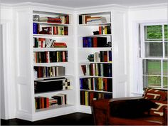 white corner bookshelves | ... Simple White Corner Bookcase: Which One is for Your Corner Bookcase