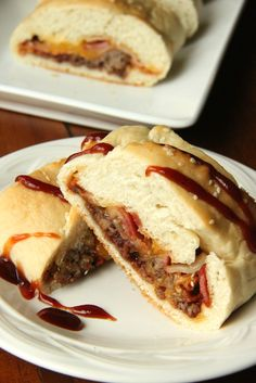Just Another Day in Paradise: BBQ Cheeseburger Stuffed Bread