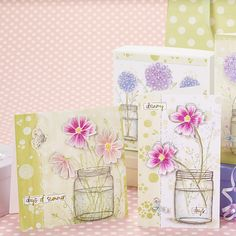 Papercraft Inspirations issue 153 floral jars
