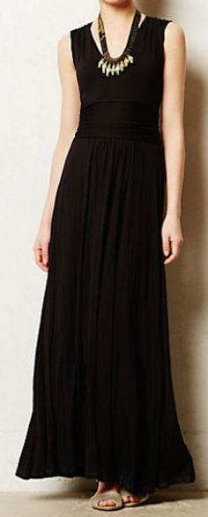 lovely black maxi dress #anthrofave - extra 25% off with code EXTRAEXTRA http://rstyle.me/n/r7r92pdpe