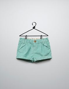 CORDUROY BERMUDAS WITH FLORAL WAISTBAND - Skirts and shorts - Baby girl (3-36 months) - Kids - ZARA
