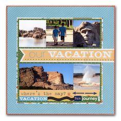 Vacation Mount Rushmore Kids Layout