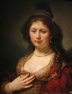 Rembrandt~Lady With a Plume