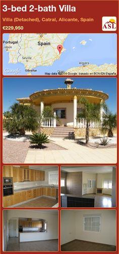 3-bed 2-bath Villa in Villa (Detached), Catral, Alicante, Spain ►€229,950 #PropertyForSaleInSpain