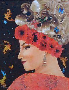 Yulia by R Groepper. Acrylic & mixed media