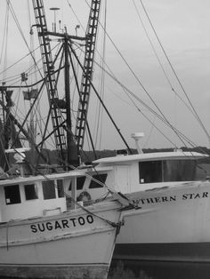 Shrimp Boats in Hilton Head. $15.00, via Etsy.