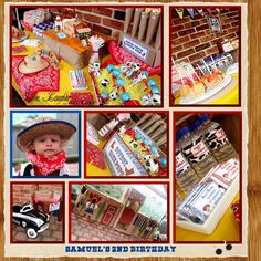 A cowboy themed party table and decorations