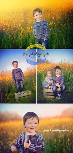 Brothers children photoshoot in a field full of yellow flowers. Spring. www.lephotograph.es