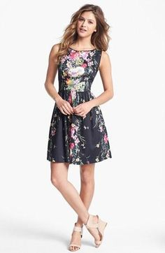 Summer floral print Fit & Flare dress!
