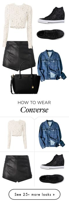 """""""Untitled #9091"""" by lover5sos on Polyvore featuring Converse, La Perla, A.L.C. and MICHAEL Michael Kors"""