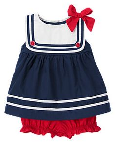 Sailor Baby girl to darling ! Sailor Outfits, Outfits Niños, Sailor Dress, Baby Outfits, Toddler Outfits, Kids Outfits, Baby Sailor Outfit, Baby Girl Fashion, Fashion Kids
