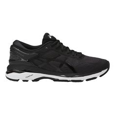 Womens ASICS GEL-Kayano 24 Running Shoe Tênis Todo Preto, Armário De Sapatos, Tênis De Corrida Asics, Tênis Bonitos De Corrida, Melhores Sapatos De Corrida, Sapatos Asics, Corrida Na Estrada, Moda Sneakers, Tênis Sneaker Feminino