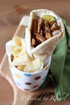Spiced Shawarma Chicken Wraps - bakedbyrachel.com