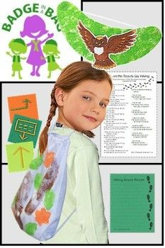 Your Girl Scout troop can get outside and enjoy their time before and while taking a hike and the Brownie Hiker badge with this kit from MakingFriends.com