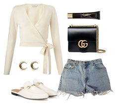 """""""Untitled #5542"""" by lilaclynn ❤ liked on Polyvore featuring Miss Selfridge, Levi's, Gucci, Yves Saint Laurent, LowLuv, YSL, saintlaurent, gucci and yvessaintlaurent"""