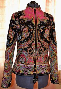 """Купить Куртка из шелкового платка """"Восточные сладости"""". - орнамент, Куртка из платка, одежда из платков"""