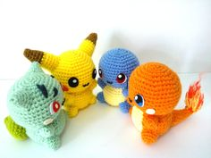 this is why i need to learn to crochet! pokemon amigurimi crochet patterns