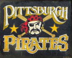 Pittsburgh Pirate Sign original hand painted by ZekesAntiqueSigns