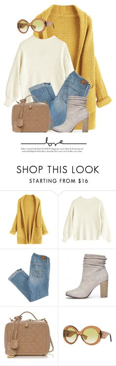 """""""Cardigan Love"""" by monmondefou ❤ liked on Polyvore featuring American Eagle Outfitters, Chinese Laundry and Versace"""
