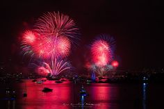 Sydney New Year Eve's Firework 2014. Shot from Vaucluse, NSW.