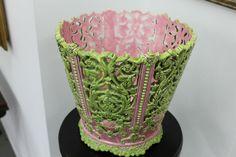 Austrian Pottery Cachepot Übertopf Jugendstil Art Nouveau Gerbing & Stephan
