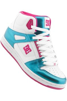 DC Shoes For Girls | DC Rebound Hi Shoe girls (white turquoise) buy at skatedeluxe
