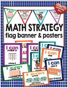 Math Strategy Flag Banner and Posters$