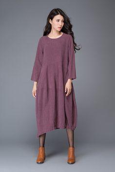 Linen dress /women's dress/ loose dress/ long dress by YL1dress