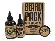 Facial Hair Grooming Kits - The Beard Pack Contains Essential Haircare Products for Beards & Staches Beard Grooming Kits, Male Grooming, Moustaches, 30th Birthday Gifts, Beard Balm, Beard No Mustache, Hair And Beard Styles, Facial Hair, Just In Case