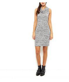 Blue Vanilla Black Rib Cowl Neck Dress | New Look