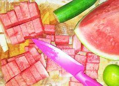 Watermelon & cucumber frappe- yummy!