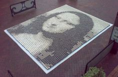Mona Lisa in 3,000+ cups of Coffee   I Like To Waste My Time