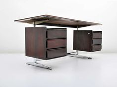 Gio Ponti Rosewood Desk | From a unique collection of antique and modern desks and writing tables at http://www.1stdibs.com/furniture/tables/desks-writing-tables/