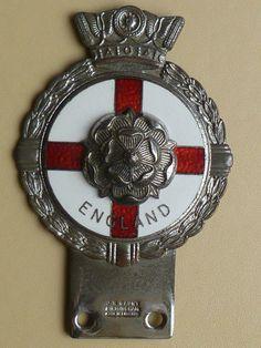 VINTAGE ENGLAND CAR BADGE / AUTO EMBLEM  J.R.GAUNT